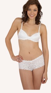 Very You Bra and Short available in white, peony and black