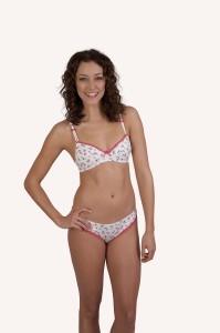Soft fresh cotton with a pretty floral design bra and brief
