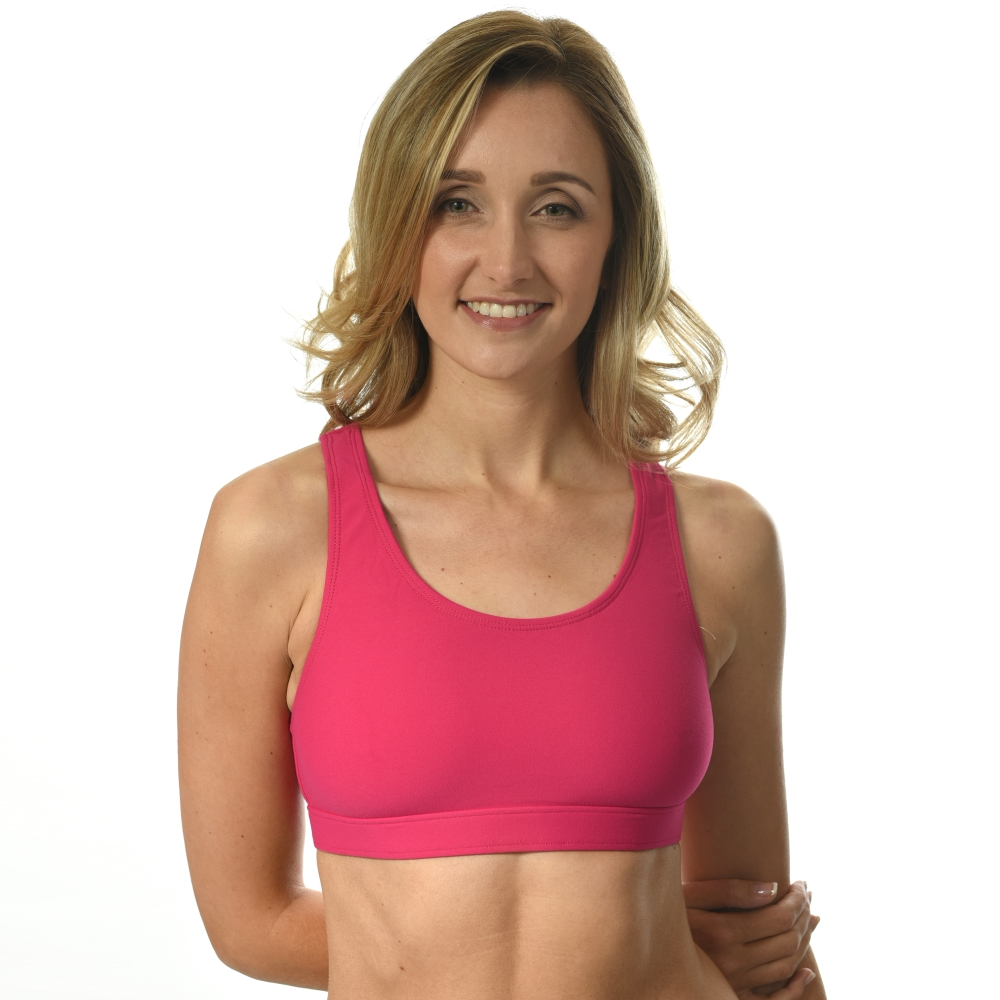 sports bra for small busts_pink