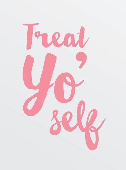 treat yo self this Christmas quote