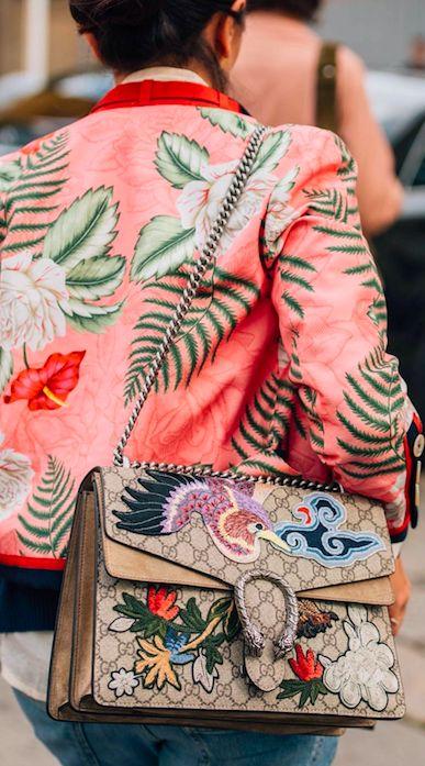 gucci floral - fashion week