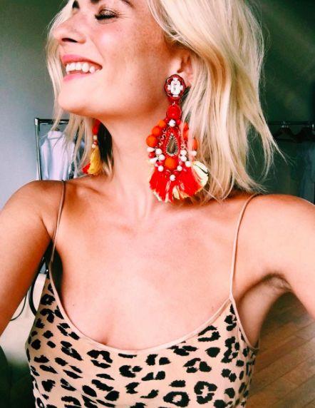 big earrings - fashion week 2017