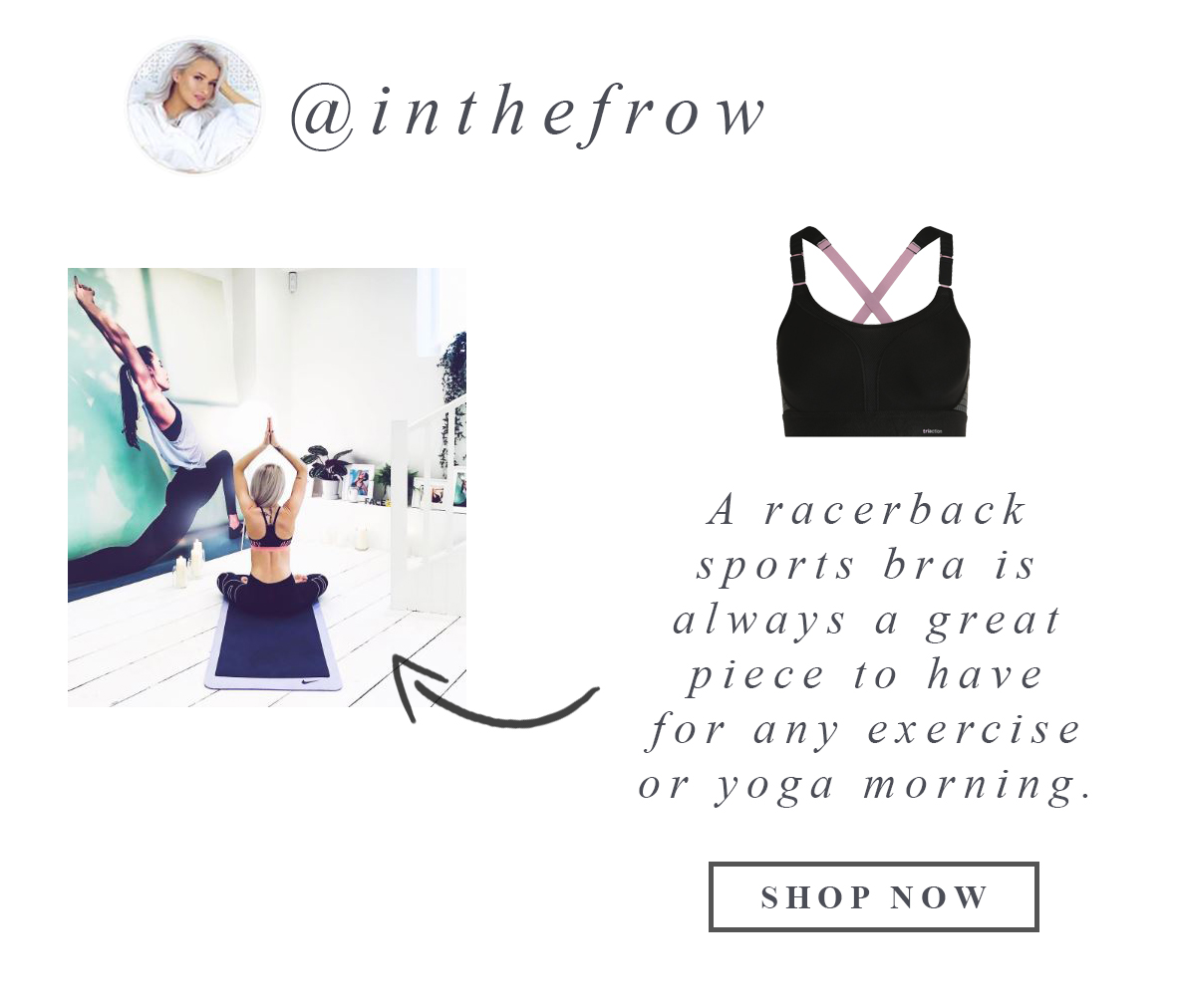 @inthefrow-racerback