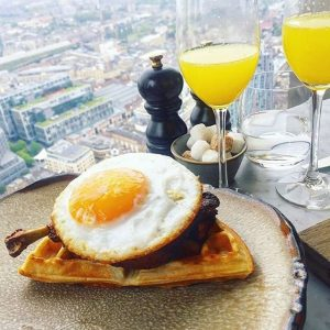 Brunch with a view at the duck and waffle
